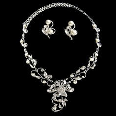 Charming Alloy With Pearl Ladies' Jewelry Sets