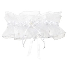 Charming Organza Sequined With Ribbons Wedding Garter Skirt