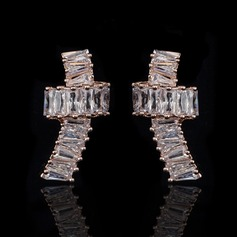 Attractive Zircon Ladies' Earrings