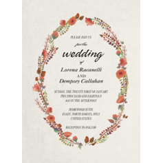 Modern Style/Whimsical Style Flat Card Invitation Cards