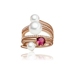 Gorgeous Copper/Zircon/Platinum Plated/Imitation Pearls Women's/Ladies' Rings