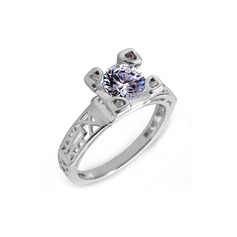 Gorgeous Zircon/Platinum Plated Ladies' Rings