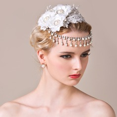Elegant Artificial Silk/Lace Forehead Jewelry