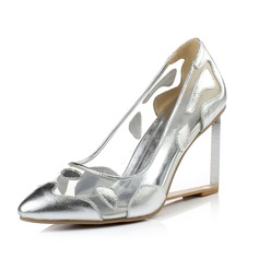 Women's Real Leather Wedge Heel Pumps Closed Toe shoes