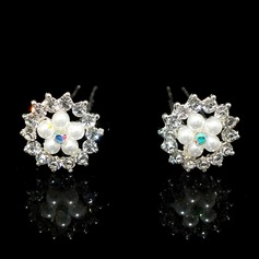 Beautiful Alloy/Imitation Pearls/Czech Stones Hairpins (Set of 2)