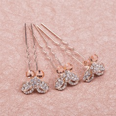 Glamourous/Simple Butterfly Rhinestone/Alloy Hairpins(Set of 6)
