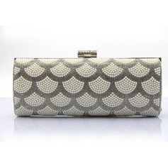 Classical PU/Imitation Pearl Clutches/Wristlets