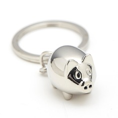 Personalized Cute pig Stainless Steel Keychains