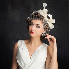 Ladies' Simple Cambric/Feather/Tulle With Feather Fascinators (196105064)