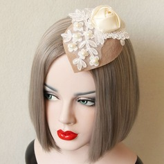 Ladies' Eye-catching Spring/Autumn/Winter Cotton/Lace With Pearl Beret Hat