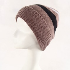 Men's Simple Wool/Acrylic Beanie/Slouchy