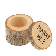 """MARRY ME""/Shabby Rustic Ring Box in Wood (Set of 2)"