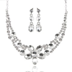 Charming Alloy With Rhinestone Ladies' Jewelry Sets