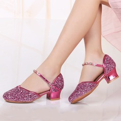 Kids' Leatherette Sparkling Glitter Heels Latin Modern Dance Shoes