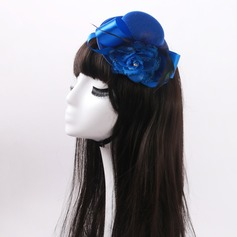 Ladies' Lovely Silk Flower/Tulle With Feather/Rhinestone/Bowknot Fascinators