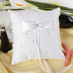 """Love Ever Lasting"" Ring Pillow in Satin With Rhinestones"