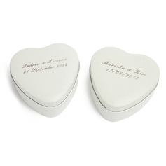 Personalized Heart Shaped Tins Favor Tin