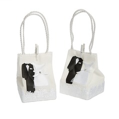 Tuxedo & Gown Handbag shaped Favor Bags