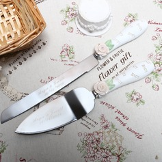 "Personalized ""Love"" Stainless Steel Serving Sets"