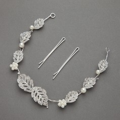 Leaves Shaped Rhinestone/Alloy Headbands