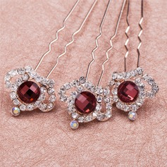 Amazing Crystal/Rhinestone/Alloy Hairpins(Set of 6)