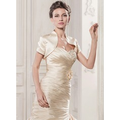Short Sleeve Satin Wedding Wrap