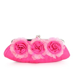 Gorgeous Silk With Flower Clutches