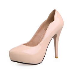 Patent Leather Cone Heel Pumps Platform shoes