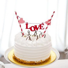 Love Design Paper Cake Topper