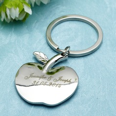 """Personalized """"Apple of My Eye"""" Stainless Steel Keychains"""