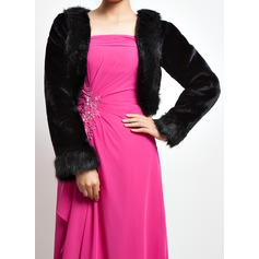 Long Sleeve Faux Fur Special Occasion Wrap