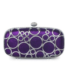 Gorgeous Silk/Metal With Rhinestone Clutches