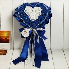 Charming Free-Form Foam/Ribbon Bridal Bouquets/Bridesmaid Bouquets -