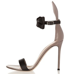Women's Patent Leather Stiletto Heel Sandals With Bowknot shoes