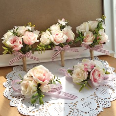 Artificial Silk Flower Sets (set of 2) - Wrist Corsage/Boutonniere
