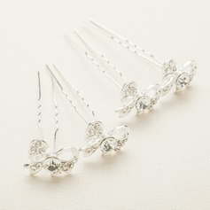 Gorgeous Alloy/Austrian Crystal Hairpins(Set of 4)