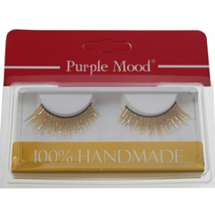 1 Pair Attractive Yellow Shimmer Cannetille Style False Eyelashes CFE461
