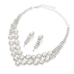 Elegant Alloy/Pearl/Rhinestones Ladies' Jewelry Sets