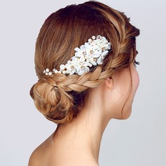 Glamourous Imitation Pearls/Silk Flower Flowers & Feathers