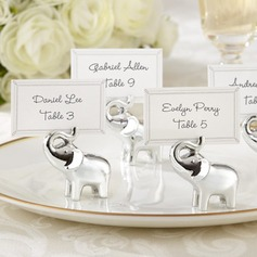 Lovely Elephant Resin Place Card Holders  (051050527)