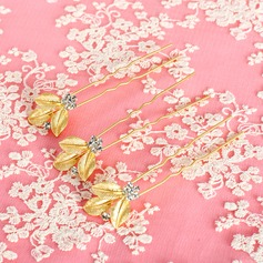 Exquisite Rhinestone/Alloy Hairpins(Set of 3)