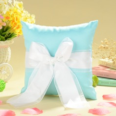"""""""Love Ever Lasting"""" Ring Pillow in Satin With Sash/Faux Pearl"""