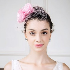Ladies' Vintage Silk With Silk Flower Fascinators