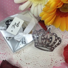 Crown Design Stainless Steel Bookmarks With Tassel