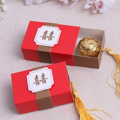 Double Happiness Cuboid Favor Boxes With Tassels