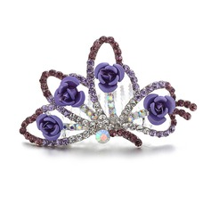 Charming Rhinestone/Alloy Tiaras/Flower Girl's Headwear
