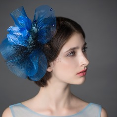 Unique Net Yarn/Feather Fascinators/Flowers & Feathers