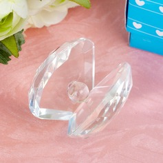 Mussels shaped Crystal Keepsake With Pearl