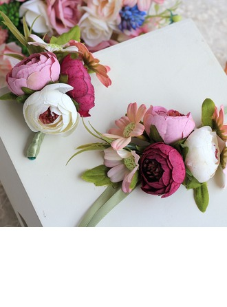 Girly Cloth/Ribbon Wrist Corsage/Boutonniere