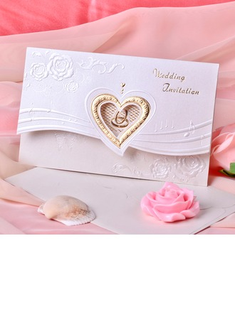 Heart Style Tri-Fold Invitation Cards